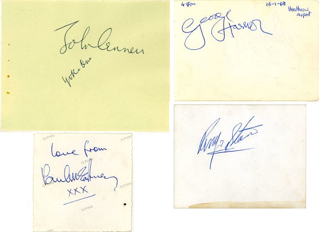 The Beatles Autographs 1968