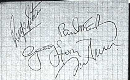 The Beatles Autographs 1969