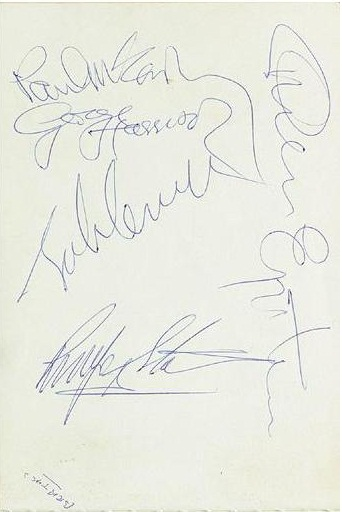 The Beatles Autographs 1966