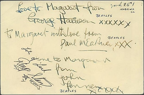 The Beatles Autographs 1962 with Ringo Starr