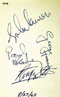 The Beatles Autographs 1965