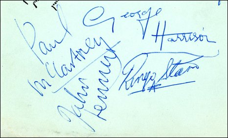 The Beatles Autographs Early 1963