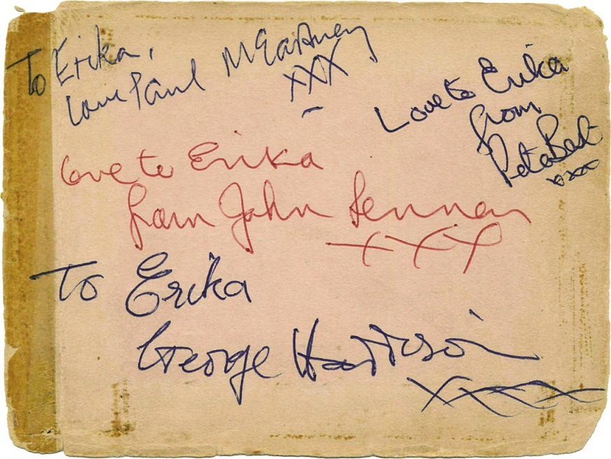 The Beatles Autographs 1962 with Pete Best
