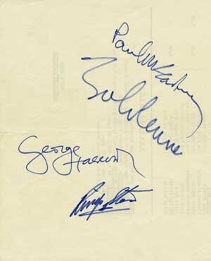 The Beatles Autographs 1964